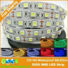 4.27$ (Buy here: http://alipromo.com/redirect/product/olggsvsyvirrjo72hvdqvl2ak2td7iz7/1504974914/en ) LED Strip 5050 DC12V Flexible LED Light 60LED/m 5m/Lot White / Warm White / Cold White / RGB 5050 LED Strip for just 4.27$