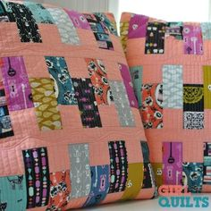Quilting after PRK - my Halloween projects! — The Girl Who Quilts Star Quilts, Scrappy Quilts, Baby Quilts, Quilt Blocks, Patchwork Quilting, Patchwork Cushion, Quilted Pillow, Longarm Quilting, Free Motion Quilting