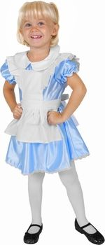 Girls Alice in Wonderland Costume - Lenny's Alice in Wonderland shop Best Toddler Costumes, Little Girl Halloween Costumes, Unique Halloween Costumes, Alice In Wonderland Costume, Alice In Wonderland Birthday, Alice Costume, White Tights, Disney Costumes, Dresses With Sleeves
