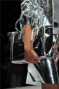 Silver Metallic Outfit w/ Bag - Milano AW 12                                                                                                                                                                                 More