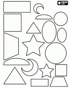 malvorlage linie | Ausmalbilder Figur - Form malvorlagen , malvorlagen Figur - Form ...