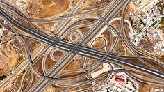 """Spaghetti Junction in Madrid, Spain - aerial photo from Daily Overview/Digital Globes, via Bored Panda; """"The and highways come together in an interwoven crossroads southeast of Madrid, Spain. This structure is commonly called a 'spaghetti junction. Aerial Photography, Amazing Photography, Photo Satellite, Google Earth, Our Planet Earth, Earth Photos, Rule Of Thirds, Birds Eye View, Photo Projects"""