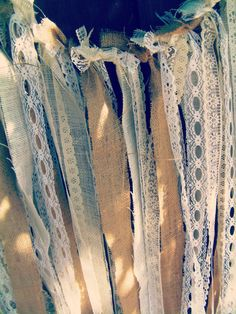 Burlap and Lace Backdrop Fabric Garland Customize to by RIandPI, $83.00
