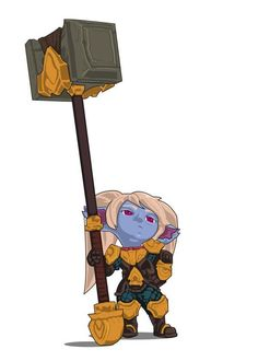 I have a Hammer! Poppy fanart based on the Moba League of Legends character. Poppy League, League Of Legends Poppy, League Of Legends Characters, Blender Models, Rp Ideas, Converse, Fantasy Characters, Game Art, Poppies