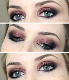 Kristen Stewart Cranberry Smoky Eye Tutorial -- step by step by HEATHER DAVERN MAKEUP