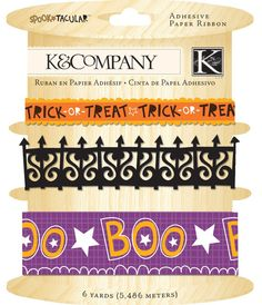 K&Company Brand  Spooktacular  Adhesive Paper by sagebrush12, $3.50
