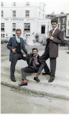 in front of the Westfield Hotel, Clarence Parade, Southsea near Portsmouth, Hampshire in 1956