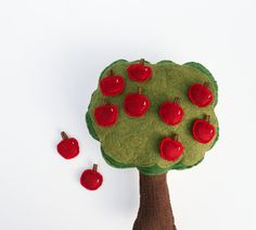Handmade Montessori Toy - 10 Little apples - Handmade Montessori Magnetic Counting and Sorting Work. Made to order. on Etsy, $54.55