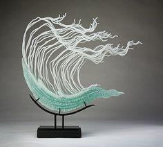 Wave Crest - by  K. William LeQuier glass sculptor