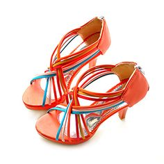 Leatherette Upper Stiletto Heel Gladiator Sandals More Colors Available – CAD $ 27.52