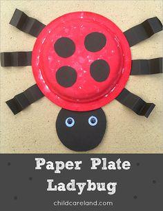 Paper plate Ladybug for fine motor development.