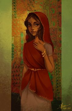 Commission(sketch)_ Indian girl by Sihx