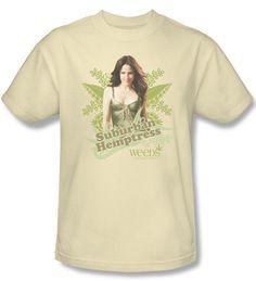 Weeds Shirt Suburban Hempstress Adult Cream T-Shirt Tee Weeds Suburban Hempstress Shirts Weeds Shirt Suburban Hempstress Adult Cream T-Shirt Tee
