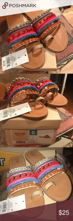 NWT Mossimo Colorful Sandals NWT Mossimo Colorful Sandals - New with Tags - Women's size 8 (US) Mossimo Supply Co. Shoes Sandals