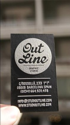Outline Studio Business cards - black +