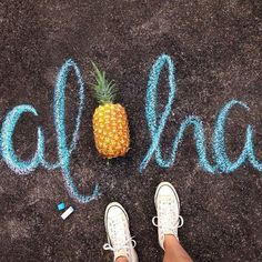 Chalk Art Images and Drawings - We need more sidewalk chalk days. Days where all you do is play outside, create art, dream up fantasy worlds. - Amazing chalk art images that will leave you speechless Fred Instagram, Photo Instagram, Disney Instagram, Instagram Models, Photo Trop Belle, Chalk Photos, Photo Lovers, Sidewalk Chalk Art, Summer Photography