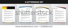 Find Letterhead Template Set stock images in HD and millions of other royalty-free stock photos, illustrations and vectors in the Shutterstock collection. Letterhead Design, Letterhead Template, New Pictures, Royalty Free Photos, Announcement, Create Yourself, Templates, Letterhead, Stencils