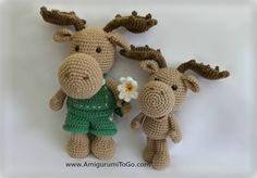 Meet the Little Bigfoot Moose ,   He is about 10.5 inches tall. This is the smaller version  of Art the Moose (also a free pattern here ...