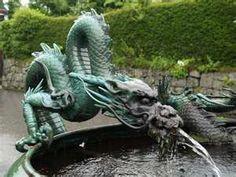 Description: Nikko, Japan: Rinno-ji Temple: dragon fountain (in rain)