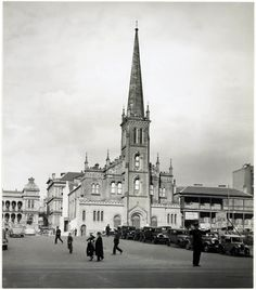 St George's Church on Phillip St,Sydney (year unknown).The Church was demolished to make way for the extention of Martin Place to MacQuarie St in the is from State Library of NSW.