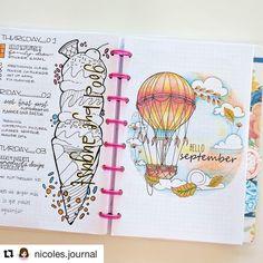 """""""Hello September"""" Instagram photo by @showmeyourplanner #BulletJournal #BuJo"""