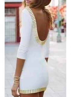White Sexy Dress - Ivory body-con dress. The website has other reasonably priced clothing