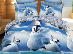 March Of The Penguins 100% Cotton 3D Bedding Sets Animal Print Bedding- ericdress.com 10859766