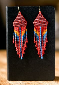 Native American beaded earrings by ziguidi on Etsy, $40.00