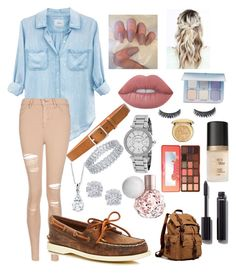 """""""School 11"""" by ella-goodness on Polyvore featuring Rails, Topshop, Sperry, rag & bone, Effy Jewelry, Michael Kors, Lime Crime, Christian Dior, Anastasia Beverly Hills and Too Faced Cosmetics"""