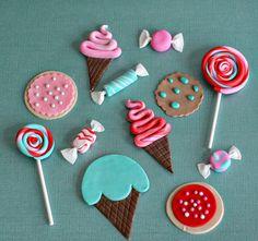 Fondant dulces helados paleta y Cookie por parkersflourpatch