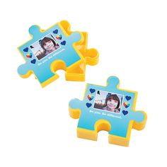 Thsese puzzle piece containers are the perfect hand out for your World Autism Awareness fundraising event. - OrientalTrading.com