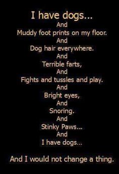 I have dogs