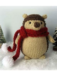 free Hedgehog Knit Pattern by Amy Gaines ~ http://www.ravelry.com/patterns/library/hedgehog-knit-pattern