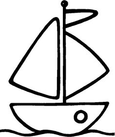 12 Best Images of Sail Boat Printable Shapes Worksheets - Sailboat Templates Printable, Boat Worksheet Shapes and Boat Crafts for Preschoolers Detailed Coloring Pages, Easy Coloring Pages, Animal Coloring Pages, Coloring Books, Applique Templates, Applique Patterns, Drawing For Kids, Art For Kids, Boat Crafts