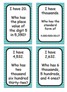 I Have, Who Has...Place Value