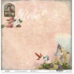 Folha scrapbook Rose/gaiola