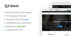 Meet - Business and Consultation Responsive HTML Template  -  https://themekeeper.com/item/site-templates/meet-business-consultation-responsive-template