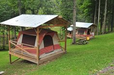 Tents on platforms add a level of ease and convenience.