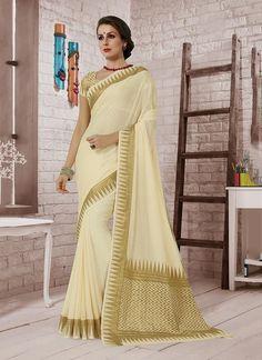 Buy indian wedding sarees. Shop this snazzy crepe silk designer saree.