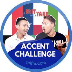 New Telfie App Sticker: #ABritAndAYankAccentChallenge