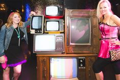 <p> Another display featured a variety of vintage TVs.</p>
