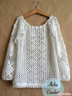 . Ethno-style. White lace blouse.