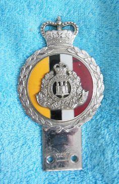 Rare Vintage 1950's Suffolk Regiment Car Mascot Chrome & Enamel J R Gaunt in Vehicle Parts & Accessories, Automobilia, Badges & Mascots | eBay