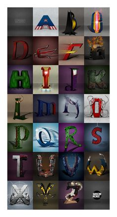 Awesome DC and MARVEL SUPERHERO ALPHABET You'd Want to Hang On Your Wall - Page 4 of 4 - Comic Planet Culture For Life