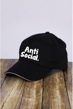 Kšiltovka Baseball Anti Social Black Stripe - forQueen.cz b1c9189381