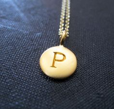 Personalized necklace, custom gold letter charm, monogram necklace, initial necklace, bridal party gifts, wedding party favors on Etsy, $37.00