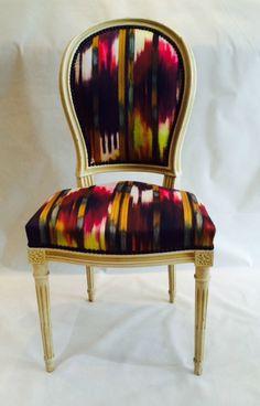 fauteuil cabriolet louis xv de style tapissier d 39 ameublement artisan d 39 art cole boulle tissu. Black Bedroom Furniture Sets. Home Design Ideas