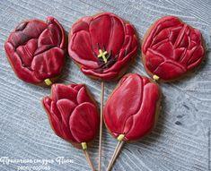 Купить Пряничный букет Тюльпаны - имбирные пряники, имбирные пряники купить, имбирные пряники на заказ