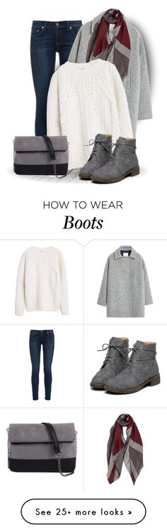 """Flat Boots (OUTFIT ONLY!)"" by bliznec on Polyvore featuring rag & bone, MANGO and 7 Chi"