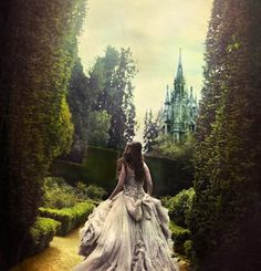 At times I like to walk around the gardens in a pre-century dress.